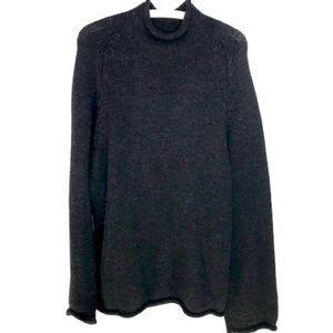 J Crew Rolled Neck hem Wool Sweater